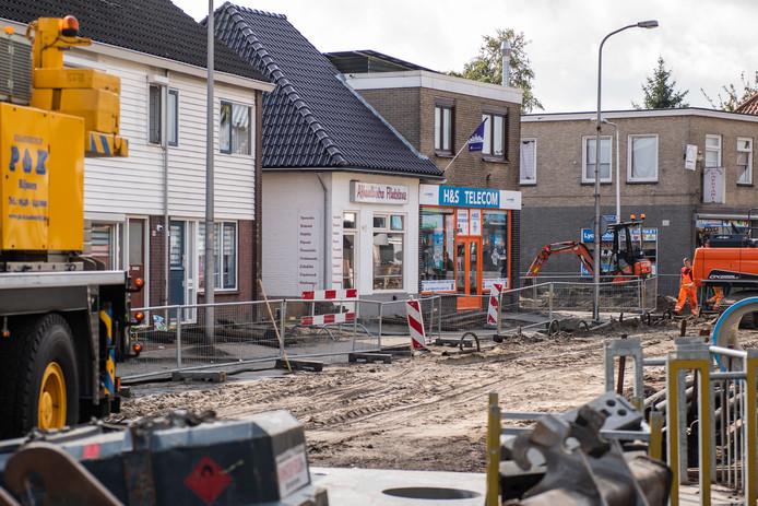 Straatbeeld van de Nieuwstraat in de wijk Nieuwstraatkwartier, waar in september een grote politieactie was.