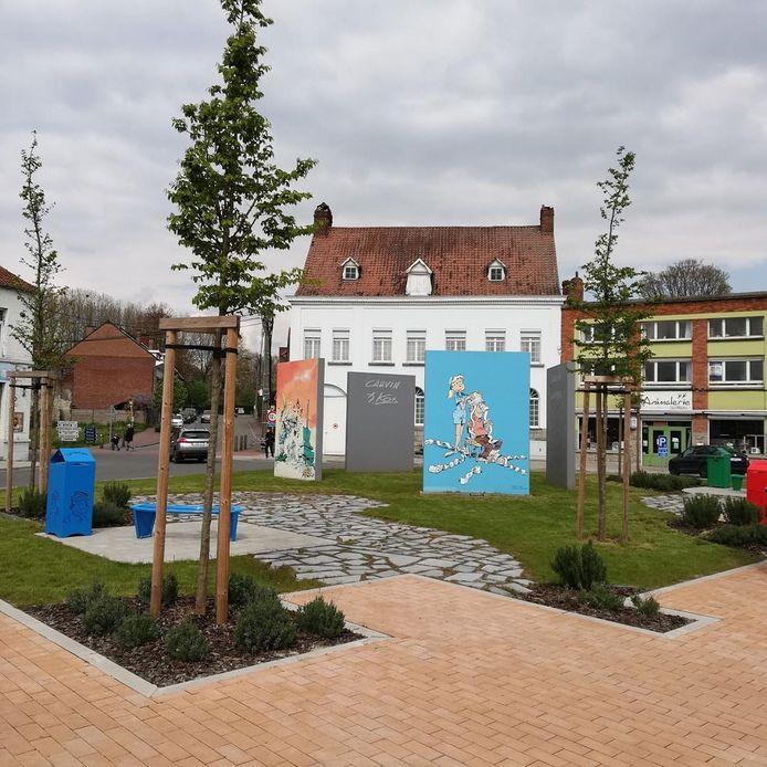 Le square inauguré par l'artiste.