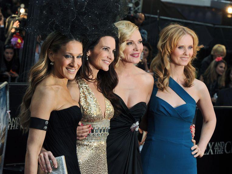 Sarah Jessica Parker, Kristin Davis, Kim Cattrall en Cynthia Nixon. Iedereen behalve Cattrall zal te zien zijn in de reboot. Beeld EPA