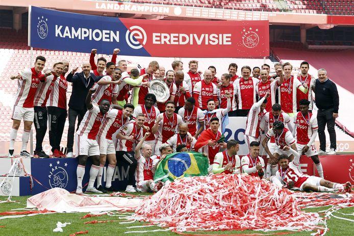 Ajax kroonde zich vorig weekend officieel tot kampioen van Nederland.