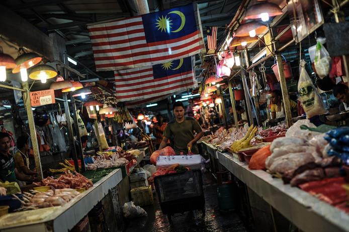 Een van de markten in Kuala Lumpur.