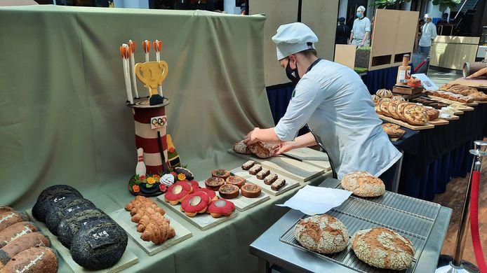 De presentatie van werk van de studenten patisserie en boulangerie van het Summa College in Eindhoven.