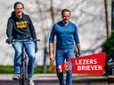 Demissionair premier Mark Rutte en demissionair minister van Volksgezondheid Hugo de Jonge op weg naar het Catshuisoverleg afgelopen zondag.