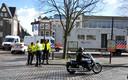 De politie maakte op de Wijnstraat een reconstructie van het ongeval dat plaatsvond om half acht 's avonds tijdens een koopavond.