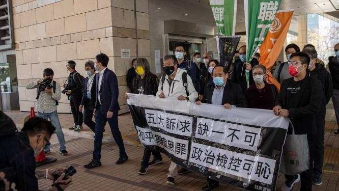 Prodemocratie-activisten Hongkong staan terecht voor massabetoging in 2019