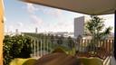 Het balkon van de Living Blocks, van Peter Heuvelmans en Hidde Engwerda uit Lage Mierde/Netersel.