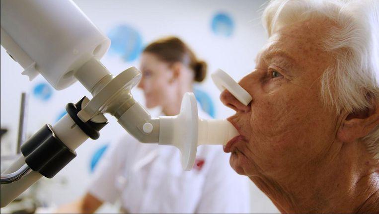 Het apparaat kan tevens bij longkankerpatiënten voorspellen of zogenoemde immunotherapie aanslaat Beeld AMC