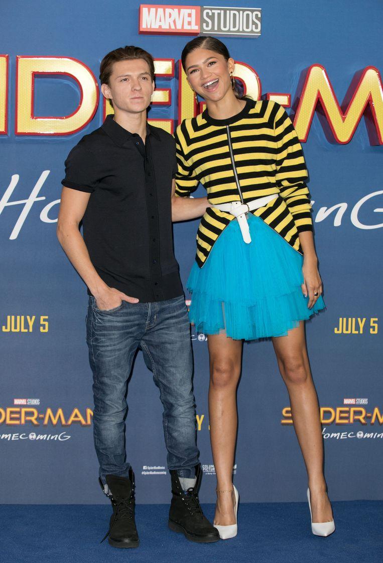 Zendaya met 'Spiderman' Tom Holland. Hoewel ze het nog niet officieel bevestigden zouden ze volgens sommige bronnen al maanden een koppel zijn.