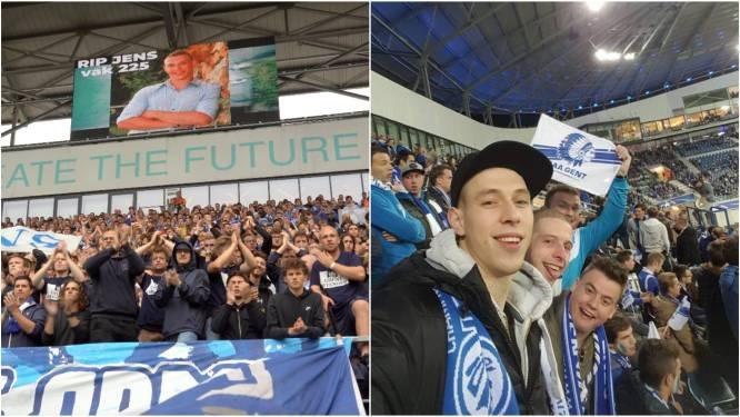 AA Gent eert overleden supporter Jens (28) in minuut 28 tijdens match tegen Club Brugge