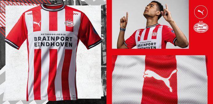 Het nieuwe thuisshirt van PSV.