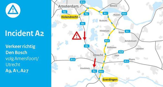 Verkeer richting Den Bosch wordt omgeleid.