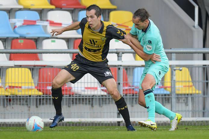 Freek Heerkens (r) kwam dit seizoen alleen nog tegen Progress Niederkorn in actie.