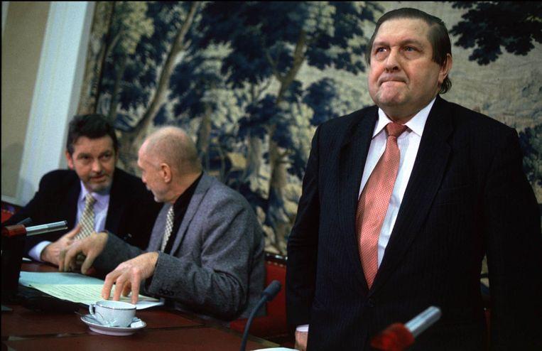 Vermeersch in de Commissie Euthanasie.  Beeld Photo News