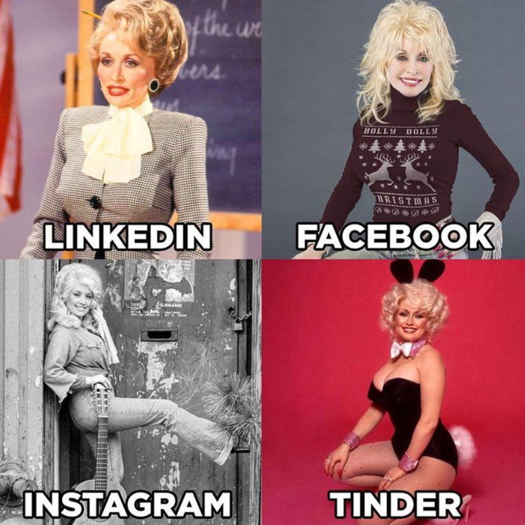 De Dolly Parton-challenge. Beeld Instagram