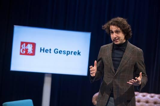 Partijleider Jesse Klaver bij De Gelderlander in Arnhem.