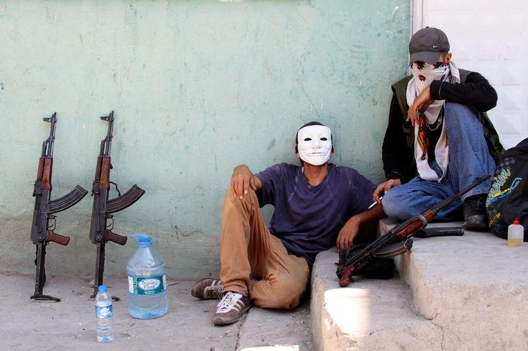 Leden van de PKK-jongerenbeweging. Beeld epa