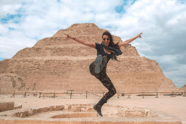 Lexie Alford in Egypte.