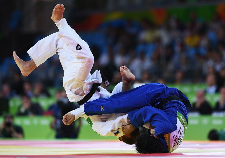 Halve finale: de Japanner Ono is té sterk voor onze landgenoot Beeld Getty Images