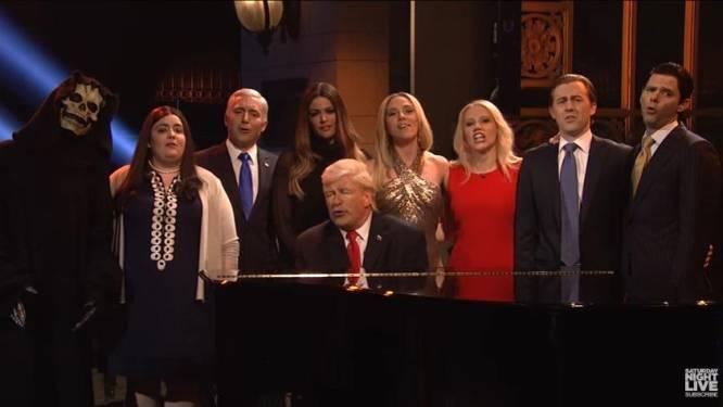 SNL zet het hele Trump-team te kijken met hilarische 'Hallelujah'