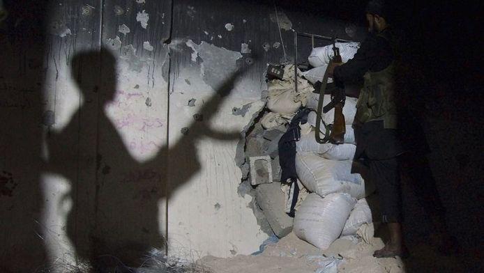 Een Syrische rebel.