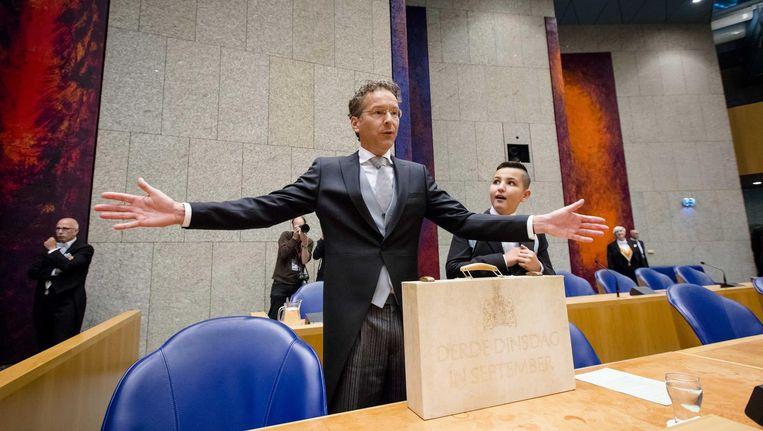 Dijsselbloem presenteert de miljoenennota aan de Tweede Kamer Beeld anp