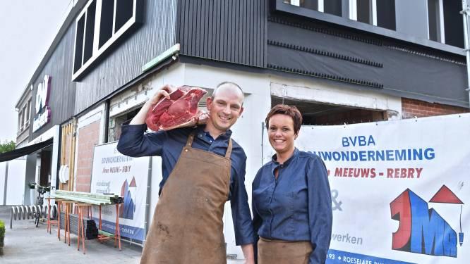 """Slagerij Koen en Veerle breidt uit: """"Meer ruimte voor extra vlees, maar ook groenten en brood"""""""