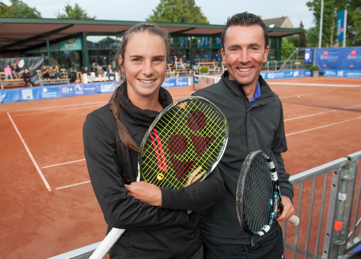 Sven Vermeulen met tennisster Bibiane Schoofs.