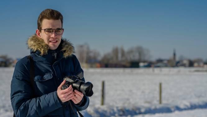 """Weerfotograaf Bram Scholliers blij met koudegolf: """"Goed ingeduffeld op zoek naar ultiem plaatje van wit landschap"""""""