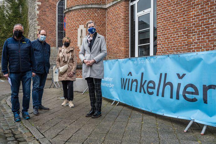 Erik Coppens, Geert Van der Wildt, Veerle Willems en Arlette Vanachter van MOL, Unizo en Buggenhout Troef lanceren deze keer een paaszoektocht.