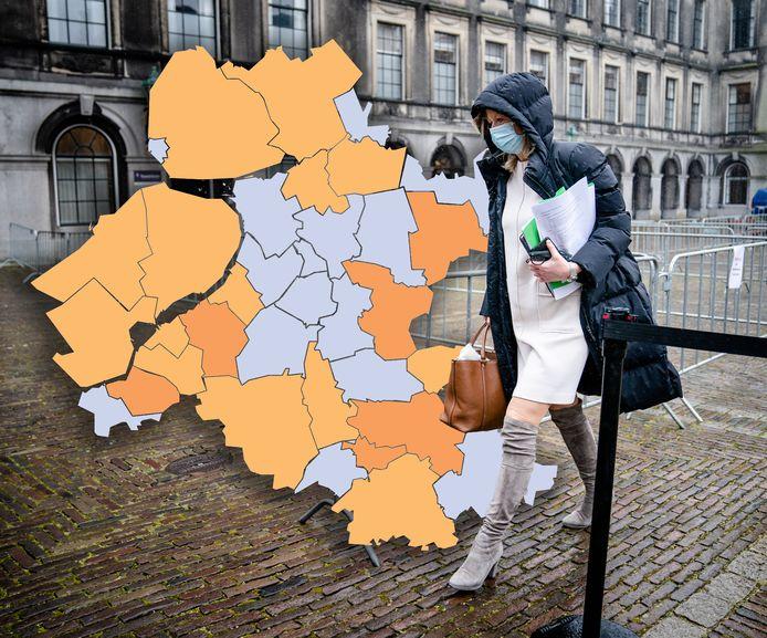 Dalende lijn in Nunspeet lijkt ingezet in de aantallen positieve coronatests, Nunspeet is de uitschieter in de regio.