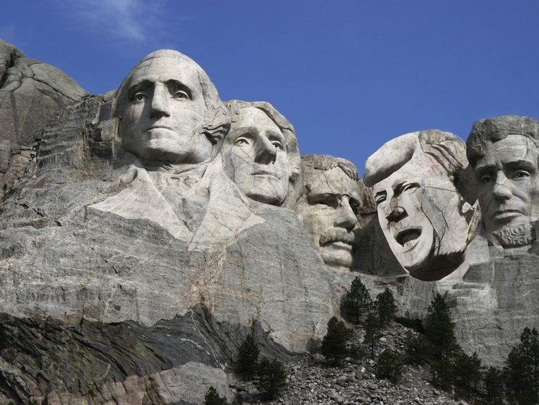 Mount Rushmore. Met Trump. Beeld rv