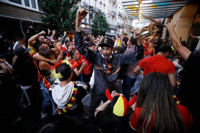 Les Belges ont célébré la victoire des Diables Rouges une bonne partie de la nuit.