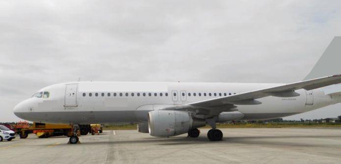 Voorbeeld van de A320 die in Oostende door Aerocircular wordt ontmanteld.
