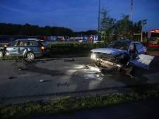 Twee gewonden bij botsing met drie auto's in Bergen op Zoom