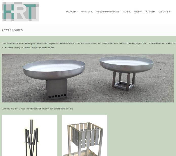 De website van HRT Metaaltechniek.