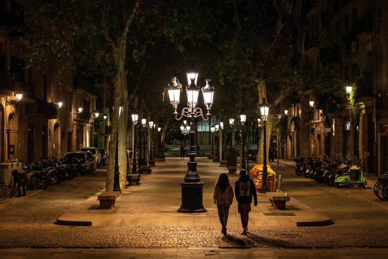 In Barcelona meldden de inwoners tijdens de lockdown 38 diefstallen per dag, waar dat er eerder 385 waren. Er was gewoon niemand om te bestelen. Beeld EPA