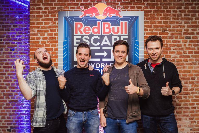 Van links naar rechts Nick de Frangh (Mechelen), Joerie Jacobs (Mechelen), Tobias van Bladel (Moerbeke) & Dirk Delahaye (Wilrijk).