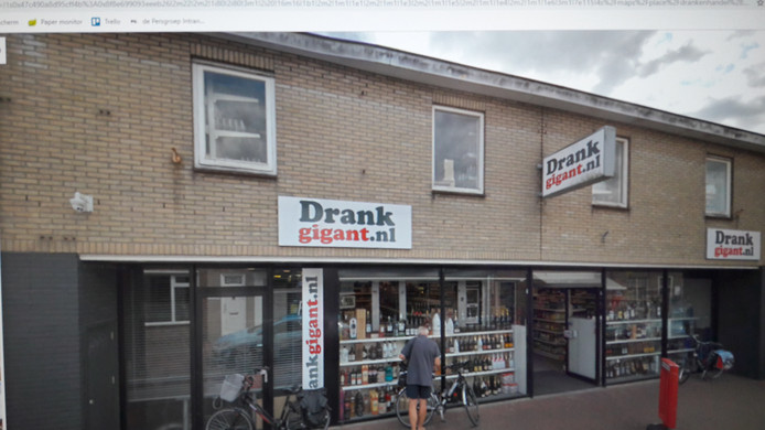 De uit zijn jasje gegroeide winkel van Drankgigant in Oost-Souburg.
