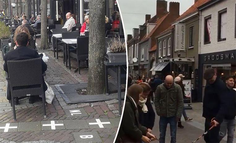 Nu het in ons land niet maar kan trekken Belgen naar Nederland om daar winkels en café's te bezoeken. Beeld Redactie