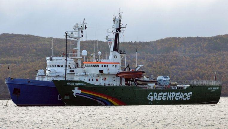 Het Greenpeaceschip de Arctic Sunrise. Beeld epa