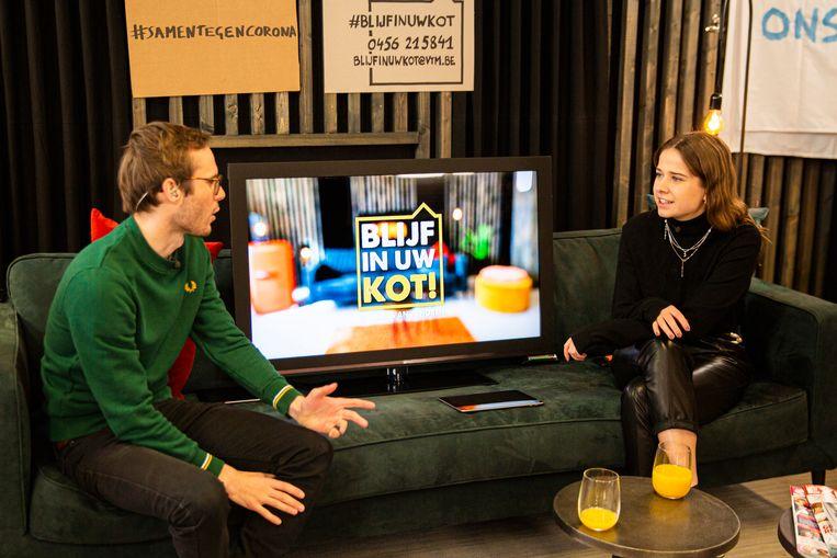 Vandaag was Laura Tesoro te gast bij Vincent Fierens in 'Blijf in uw kot!'.