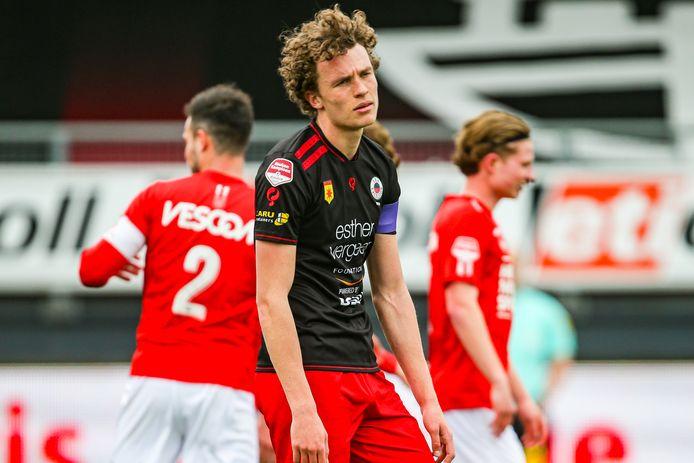 Excelsior-speler Mats Wieffer werd er moedeloos van.