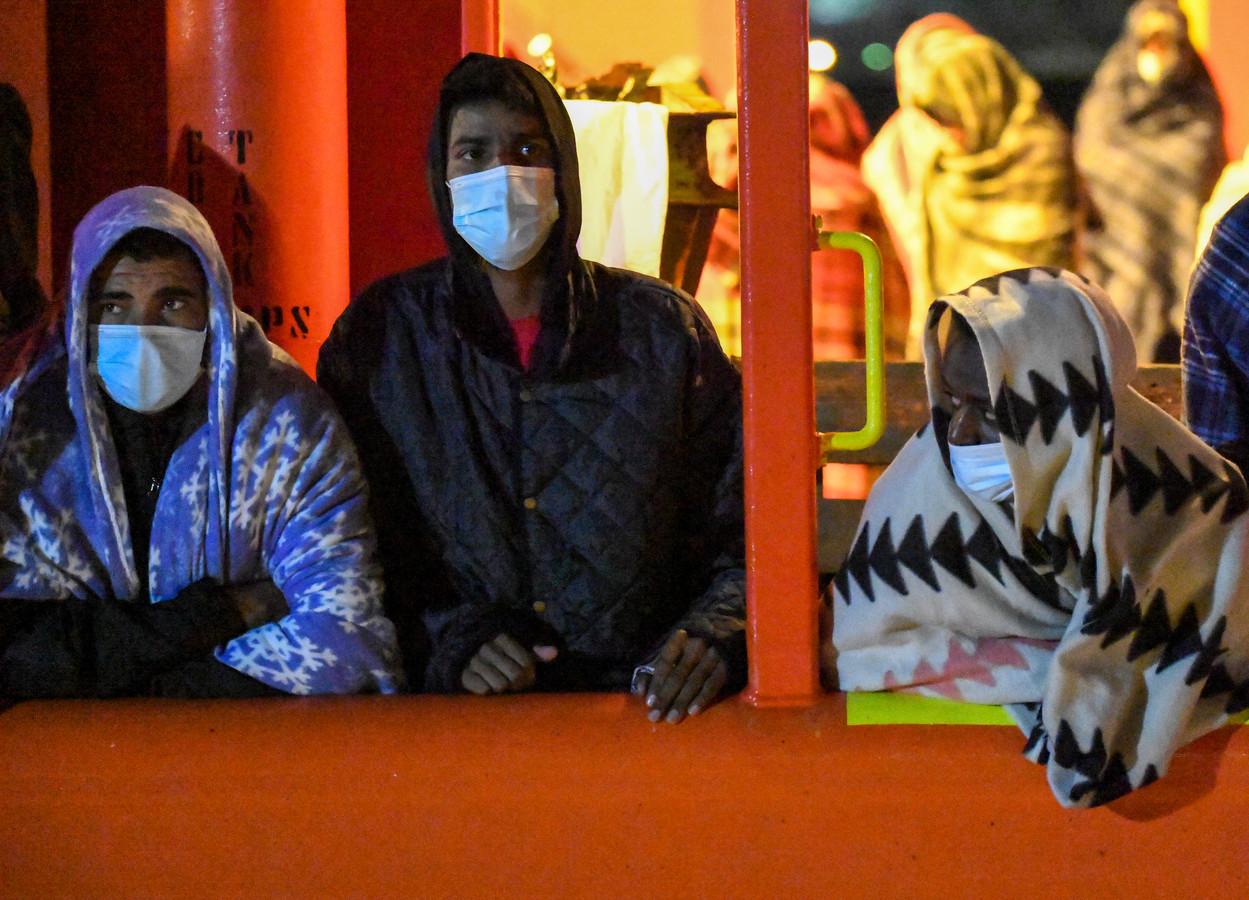 Migranten in Lampedusa.