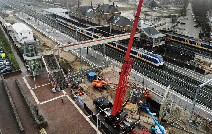 Werkzaamheden op station Geldermalsen