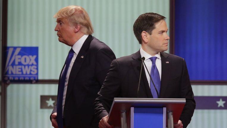 Donald Trump en Marco Rubio Beeld anp