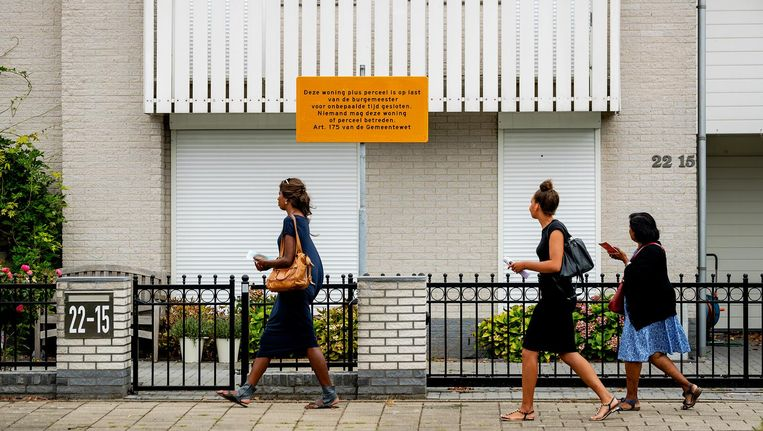 De woning van Danny M. die op last van de burgemeester is gesloten. Beeld anp