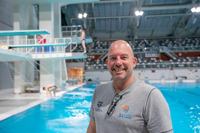 Edwin Jongejans (hier op archiefbeeld van eind 2019) traint sinds afgelopen week weer met de volledige schoonspringselectie in Eindhoven.
