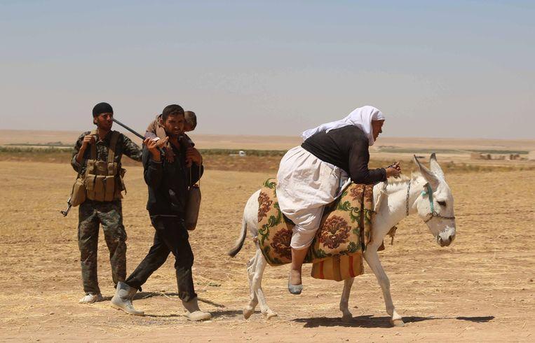 Op 3 augustus 2014, zeven jaar geleden, bestormden bataljons van terreurgroep Islamitische Staat (IS) de dorpen van het jezidivolk in Noord-Irak. Beeld Getty Images