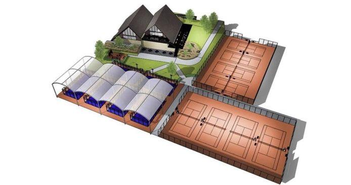 En tout, le complexe comportera 14 terrains.