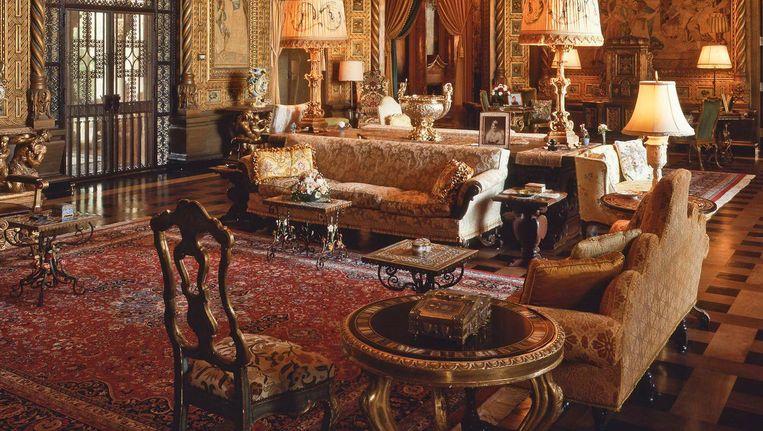 Een kamer in Mar-A-Lago, het buitenverblijf van Trump in Florida. Zijn penthouse in New York ziet er net zo uit. Beeld Photo News